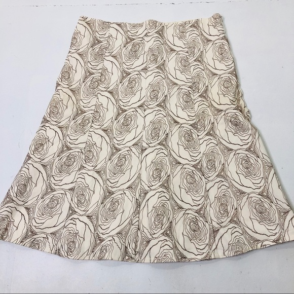 Anthropologie Dresses & Skirts - Ruth Size 8 Rose Embroidered Lined A-Line Skirt